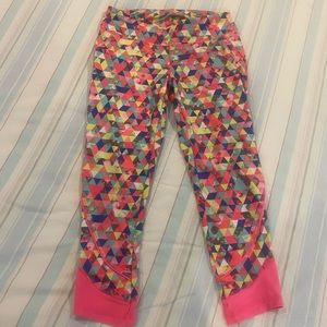 Fun and colorful workout capris!